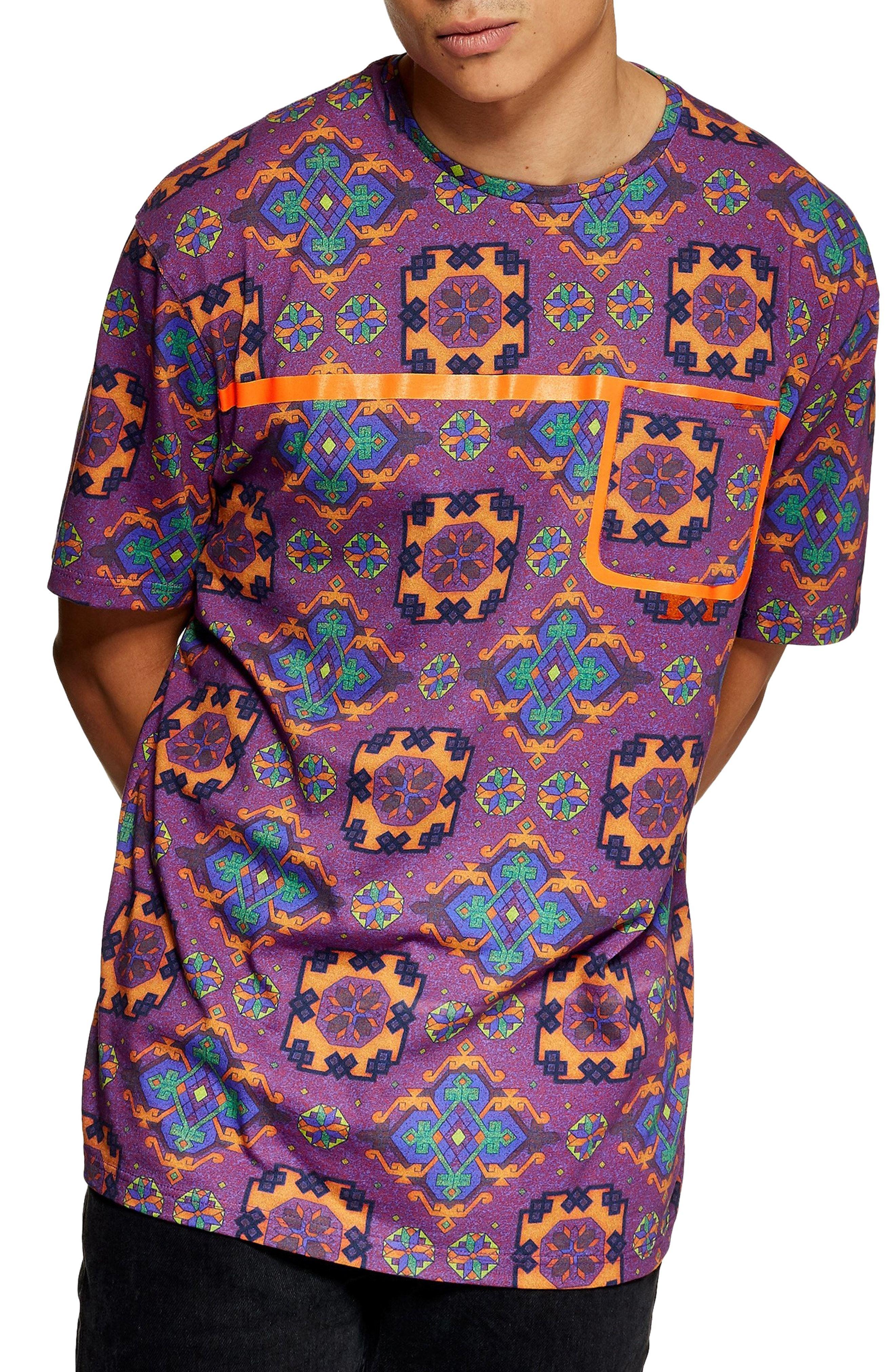 72c4a2946b2cb TOPMAN TAPESTRY PRINT POCKET T-SHIRT.  topman  cloth