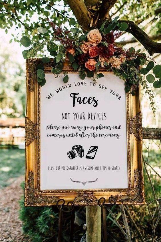 Rustic Burgundy Floral Unplugged Wedding Sign | Zazzle.com
