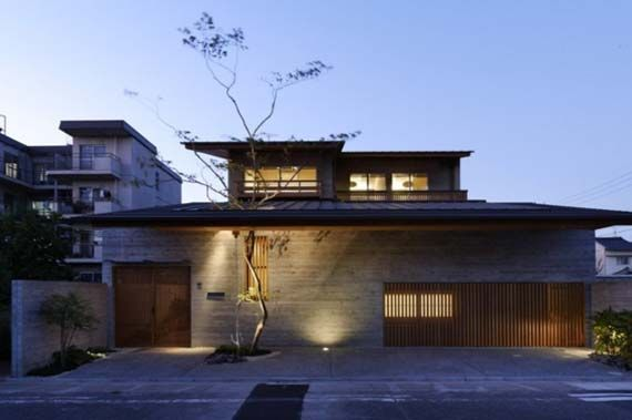 modern face of japanese house architecture with nature living concept - Modern Japan House