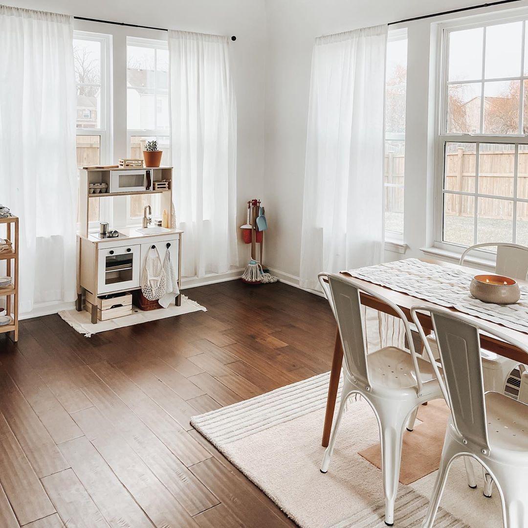 IKEA play kitchen sunroom design simple dinner table