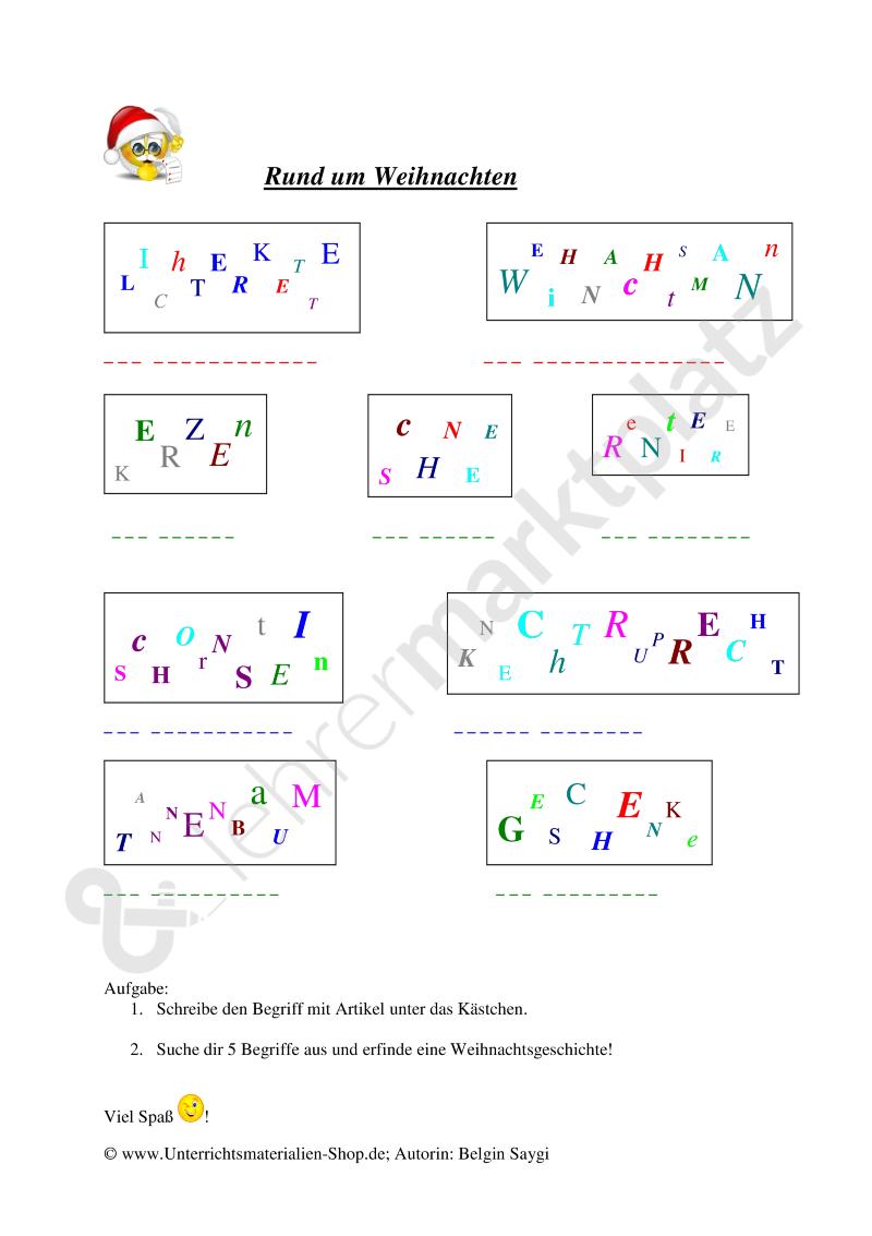 Rätsel | Weihnachten Unterrichtsmaterialien | Pinterest