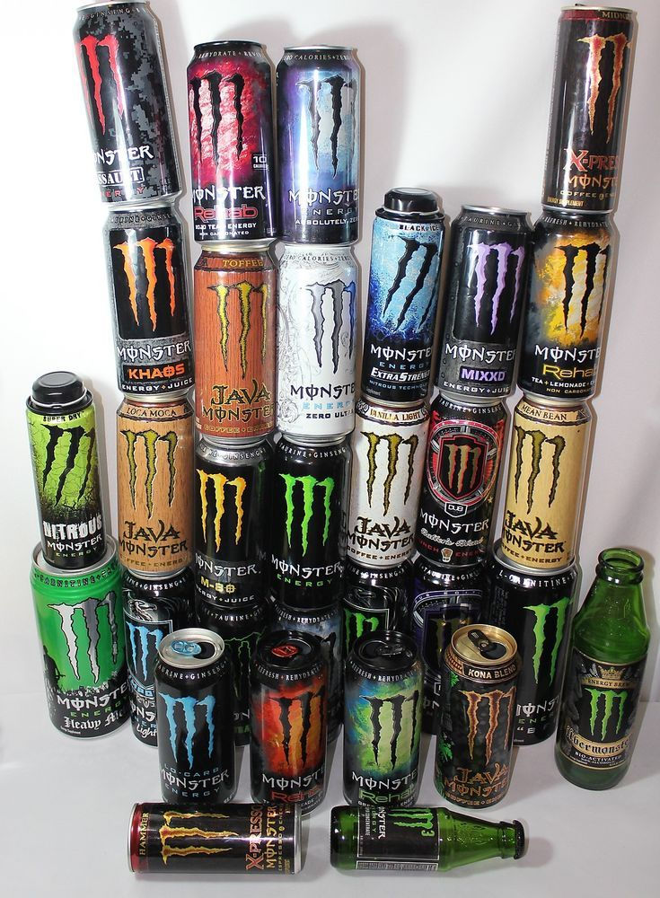 monster energy drink can empty 31 total all different man. Black Bedroom Furniture Sets. Home Design Ideas