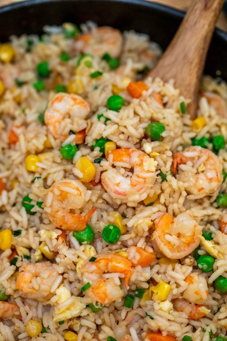 Shrimp Fried Rice Recipe [video] - Sweet and Savor