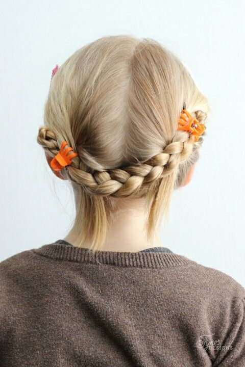 Two Plaits Simply Clipped Up Using Small Claw Clips Hairstyles To
