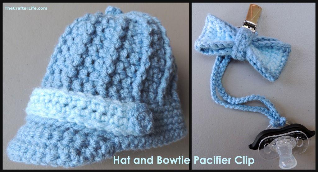 Crochet Newborn Hat and Bowtie  0ede4707c11