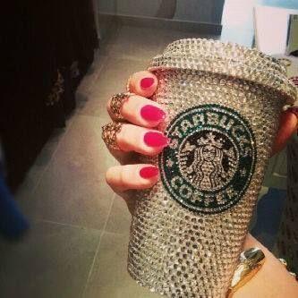 Starbucks AND Diamonds, my two favourite things...!