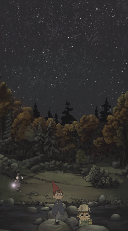 I stitched together screenshots from the first episode for a phone background!