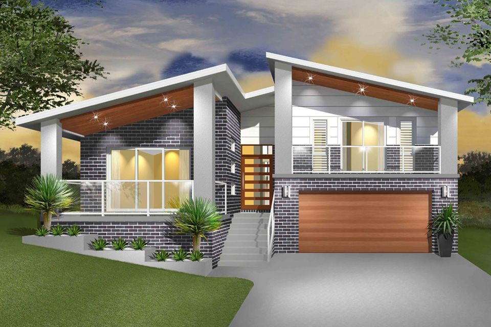 Pin By Rebecca Vann On Home Exteriors Split Level House Exterior Split Level House Plans Split Level Home Designs