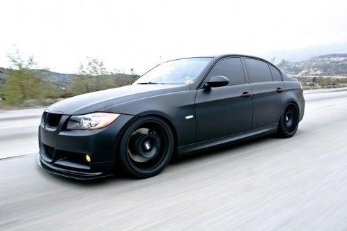 Bmw 335i In Matte Black Matte Black Cars Bmw Bmw M3 Black
