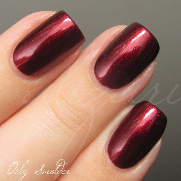 orly smolder red dark