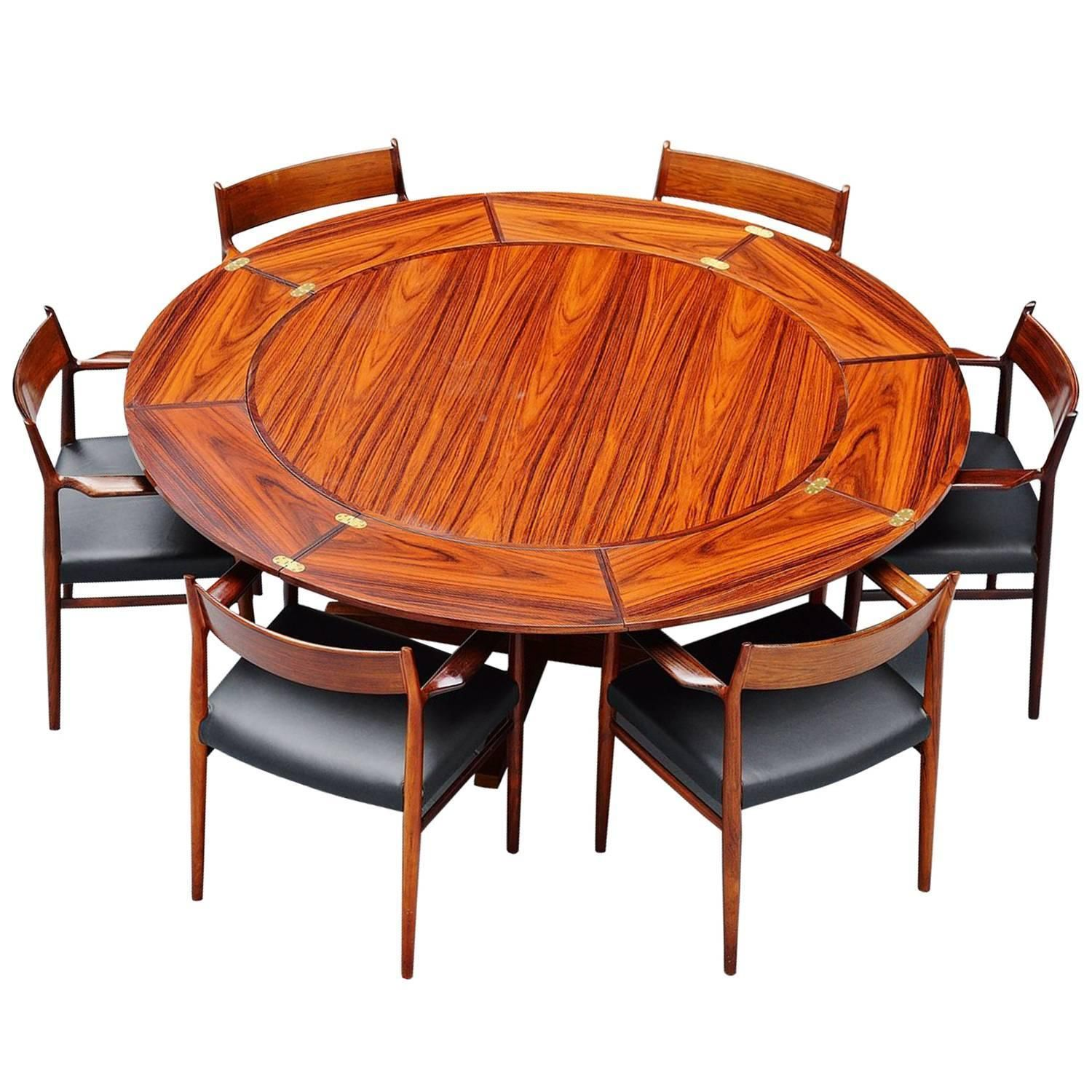 dyrlund extendable rosewood dining table denmark