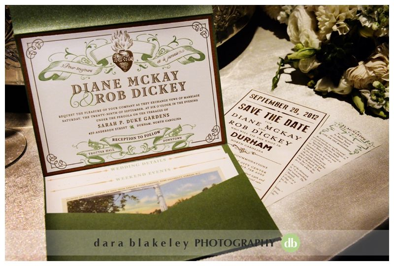 Wedding Invitations New Orleans: Durham And New Orleans Themed Wedding Invitation