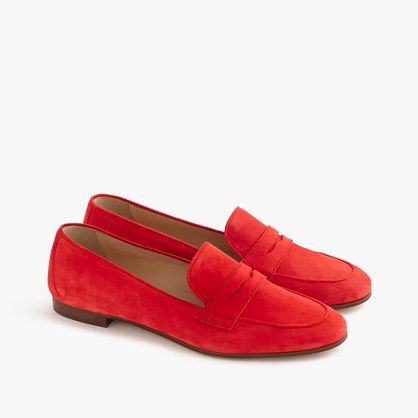 42fd7aabdd5 Charlie penny loafers in suede from J. Crew.