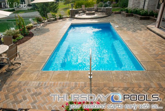 Pin On Backyard Fiberglass Inground Swimming Pools