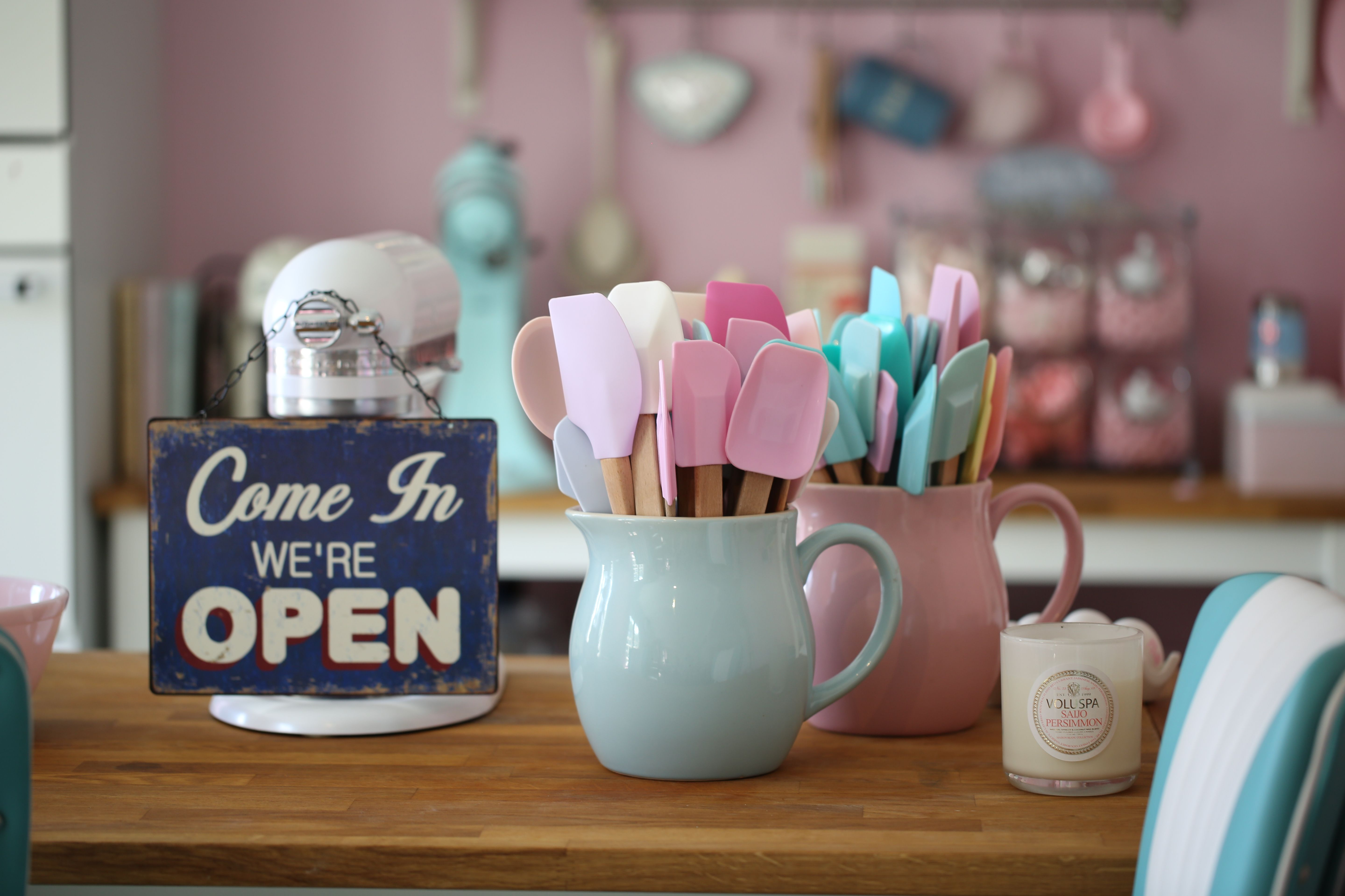 We Are Open Sign In My Kitchen Utensilios Para Hornear Bake Tools