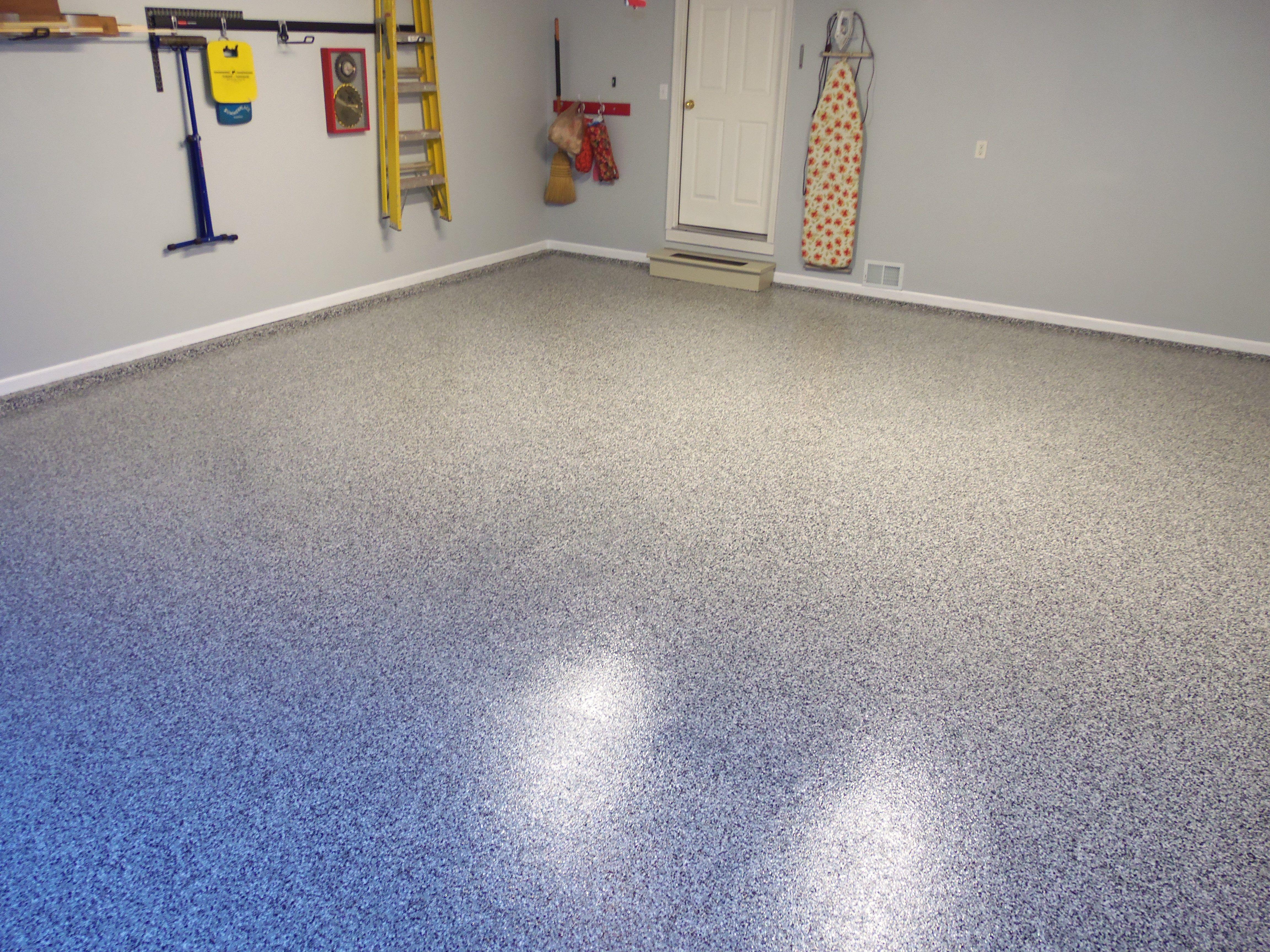 Epoxy garage floor by RyanCo (Stonehenge is the color