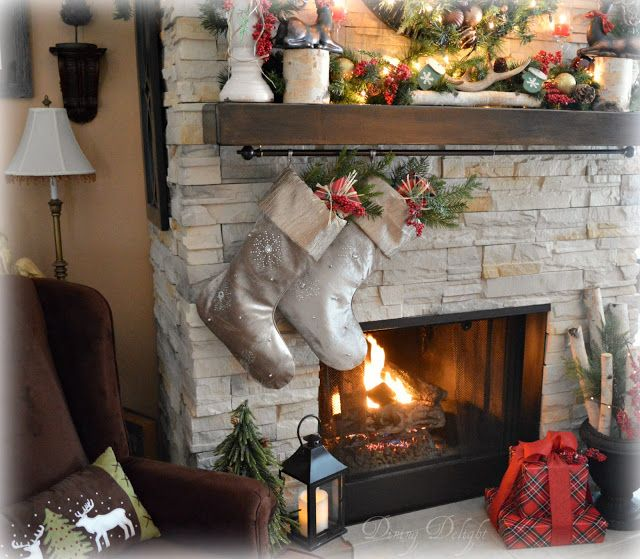 Christmas Fireplace  Hearth Christmas mantels, Xmas ideas and