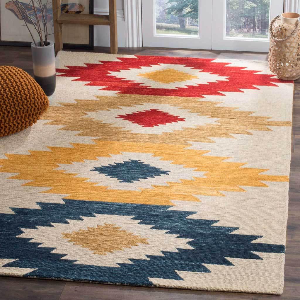Aspen Ivory Multi Area Rug Southwestern Area Rugs Wool Area Rugs Colorful Rugs