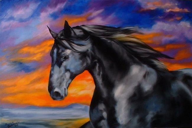 Art: Midnightsun by Artist Marcia Baldwin