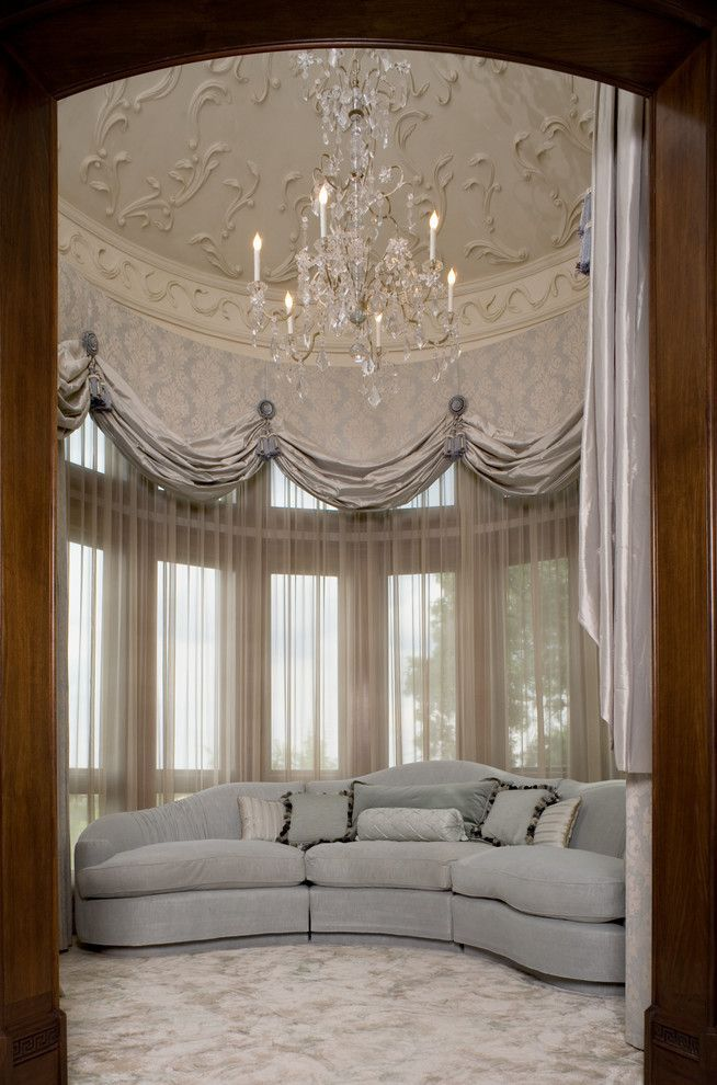 Cool Swag Valance Pattern Ideas In Bedroom Traditional Design With Balloon Shades Ceiling Treatment Chandelier