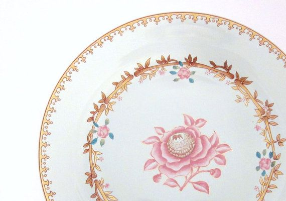 Pink Rose Porcelain Plate Abigail Adams Replica By Avon Vintage 1985 The White House China Peabody Museum