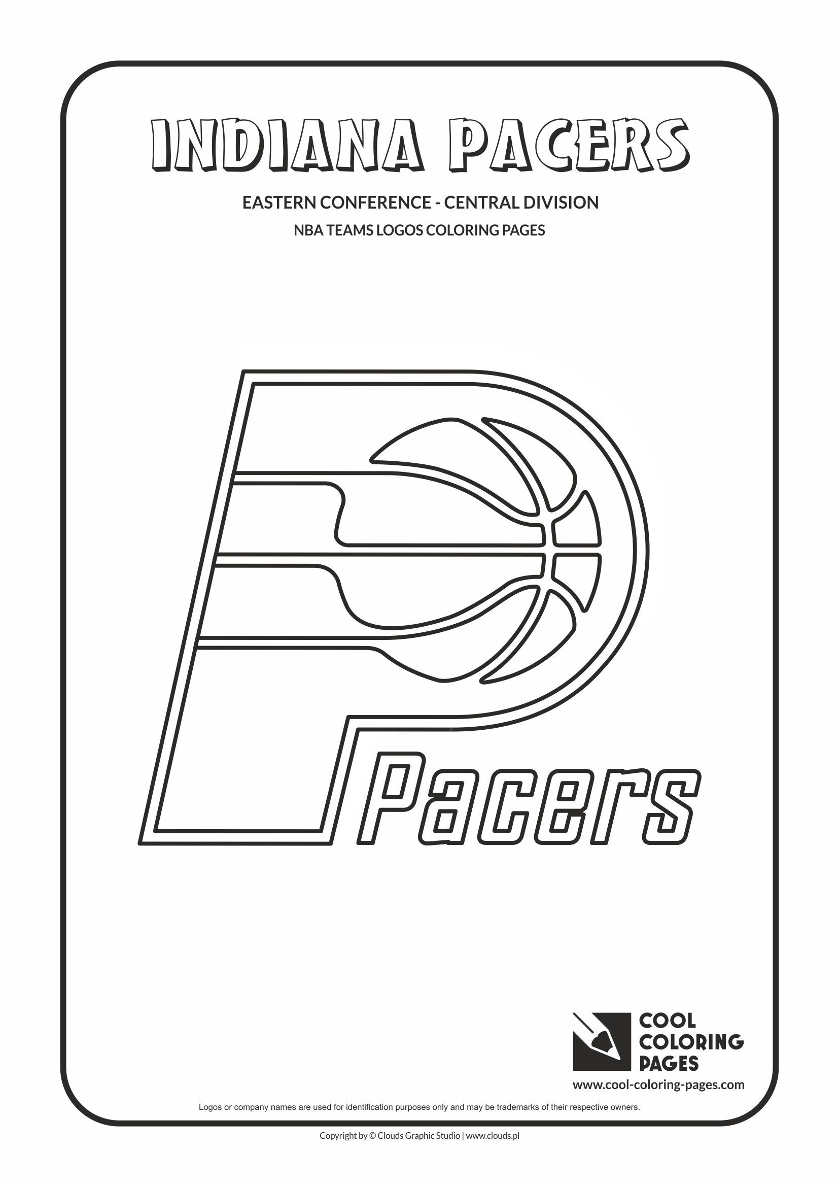 Indiana Pacers Nba Basketball Teams Logos Coloring Pages With