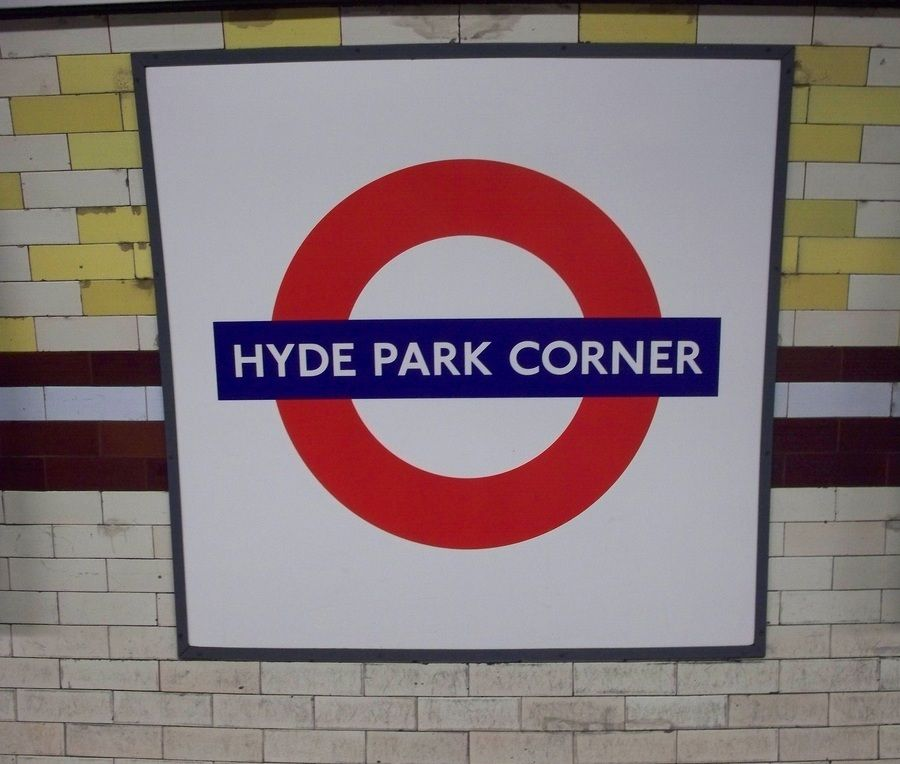 Hyde Park Corner London Underground Station In London Greater