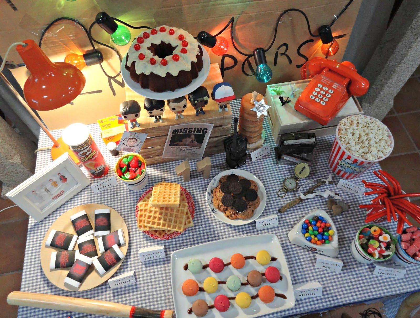 Stranger Things Party Decoracion fiesta cumpleaños