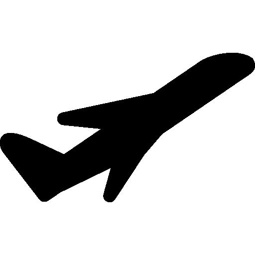 Plane Taking Off Free Vector Icons Designed By Freepik Free Icons Black Silhouette Icon