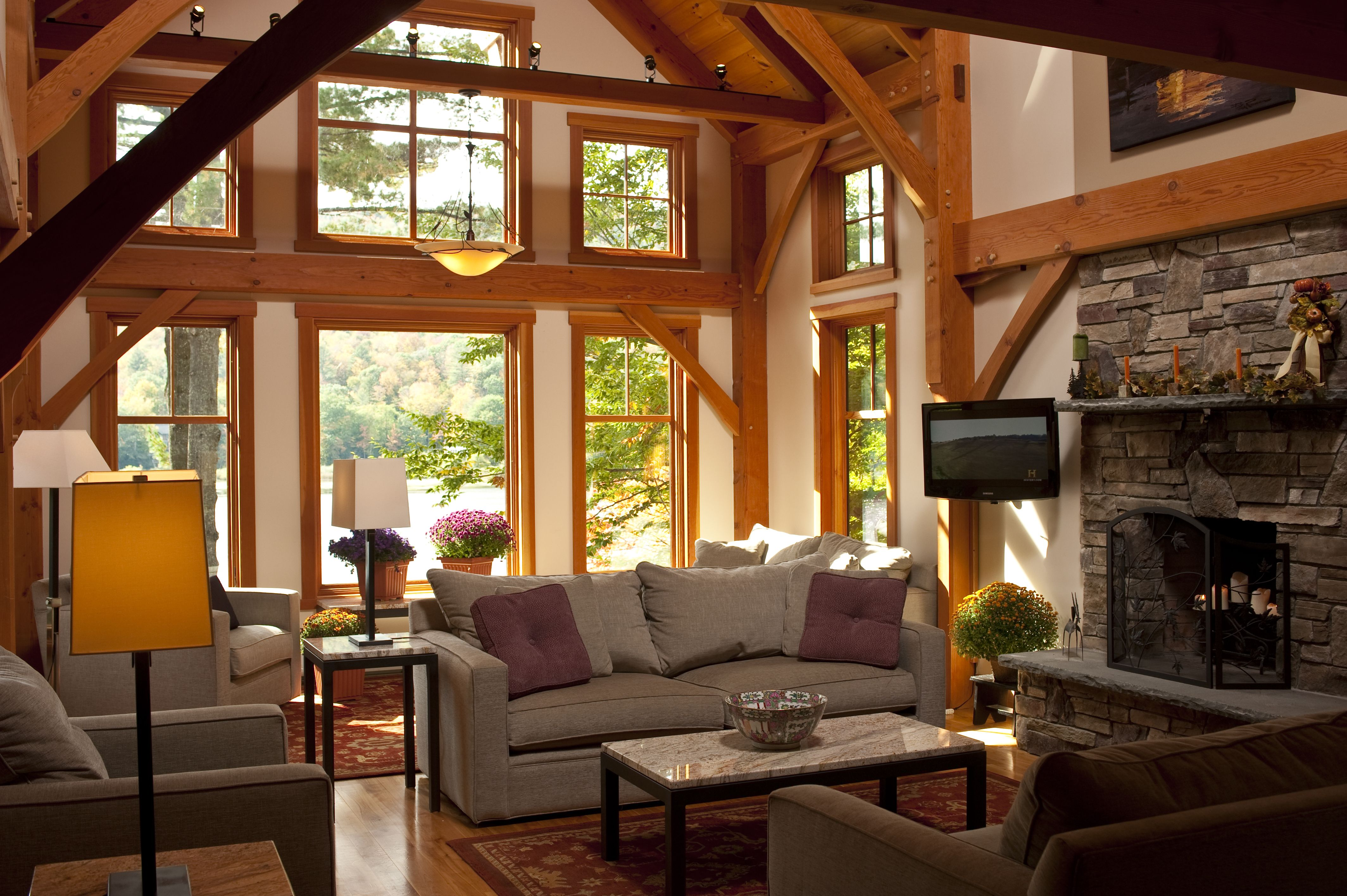 Vermont lake house interior bensonwood gallery pinterest Lake house decorating photos
