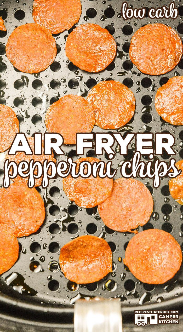 You can make Air Fryer Pepperoni Chips in a matter of minutes. These crisps are ...-#Air