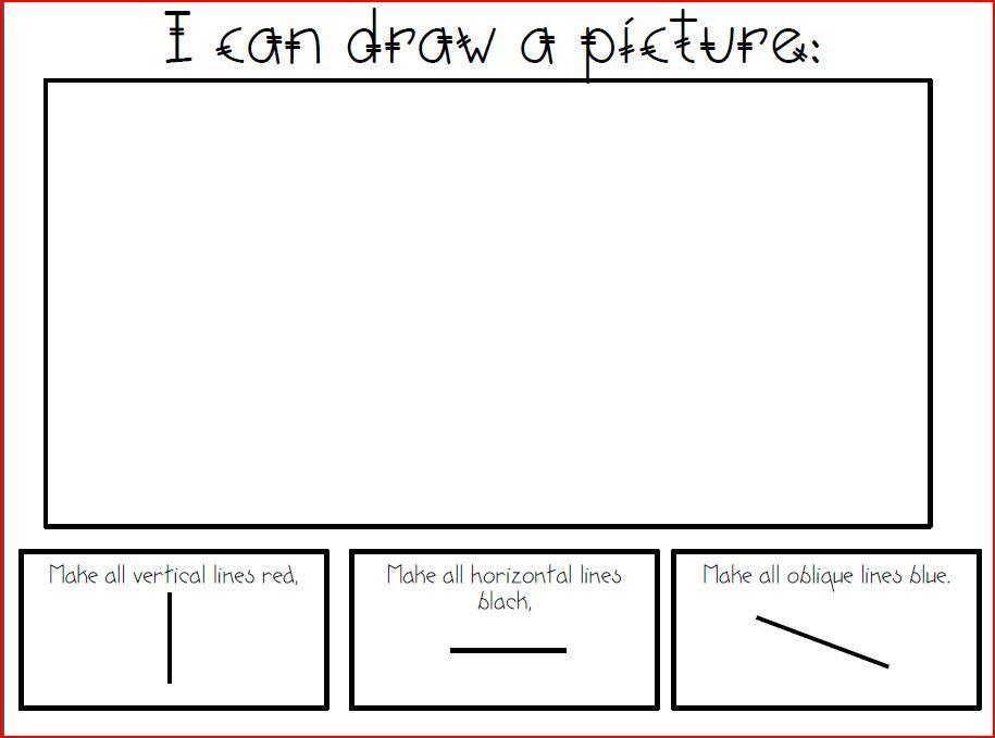 Image result for vertical horizotal line worksheet art kids