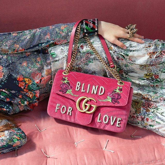 f2bf71f03ef Gucci Pink Medium GG Marmont 2.0 Blind For Love Bag in 2019