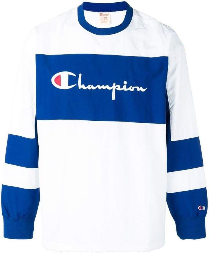 9d1891d4aa3f2 Champion colour block sweatshirt Champion Sweatshirt