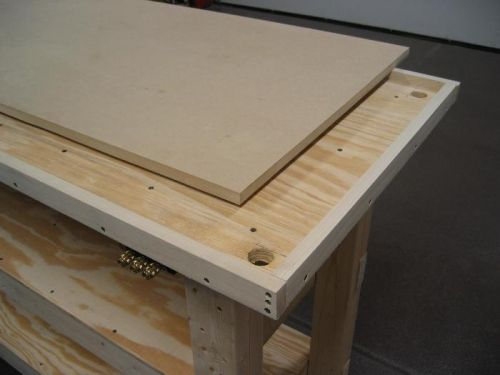 Bench Top Removable Mdf Woodworking In 2019 Workbench Top Bench