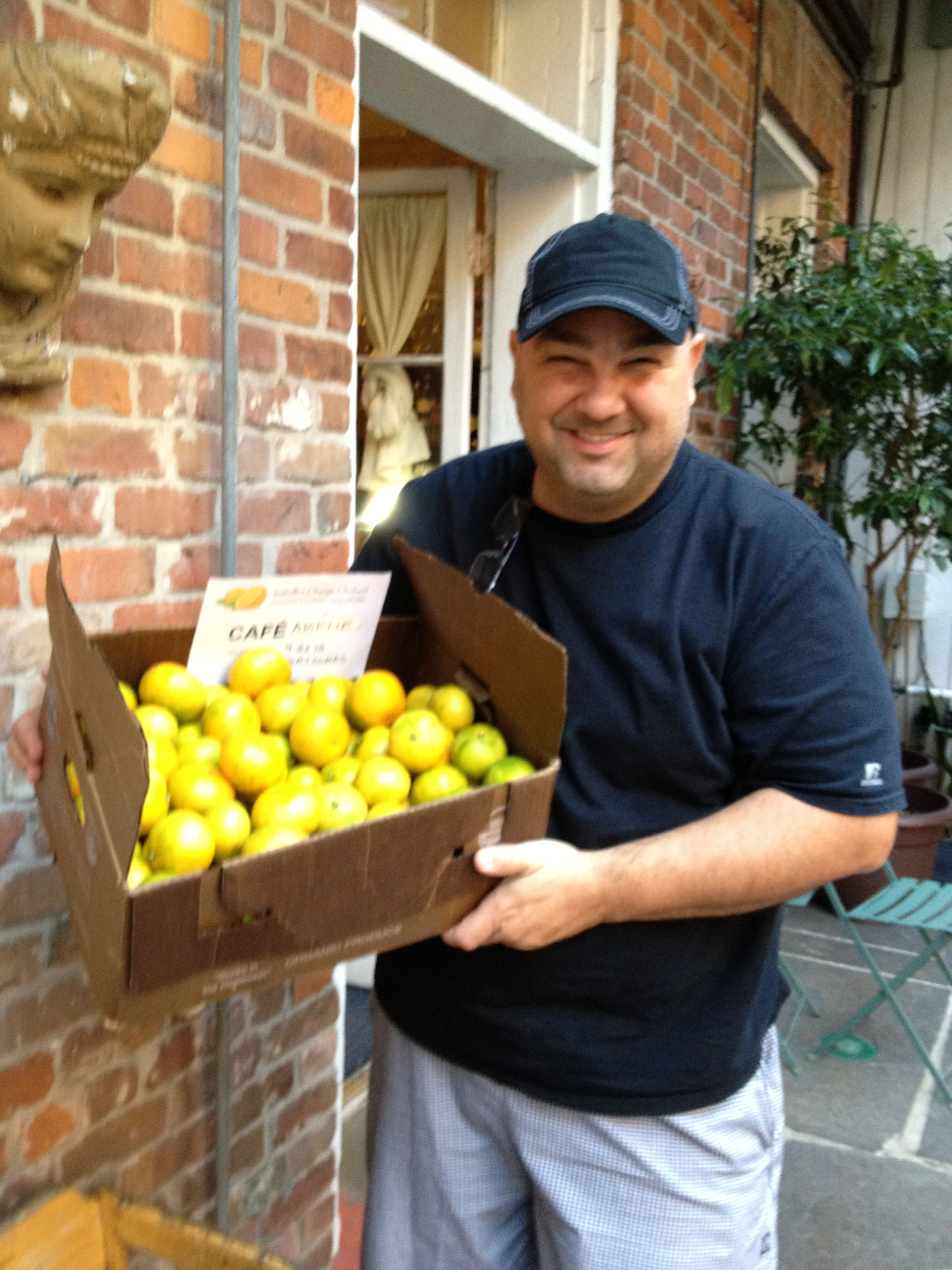 Satsuma delivery to Chef Jerry Mixon at Cafe Ameliefirst
