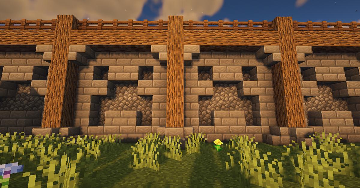 Minecraft Castle Wall