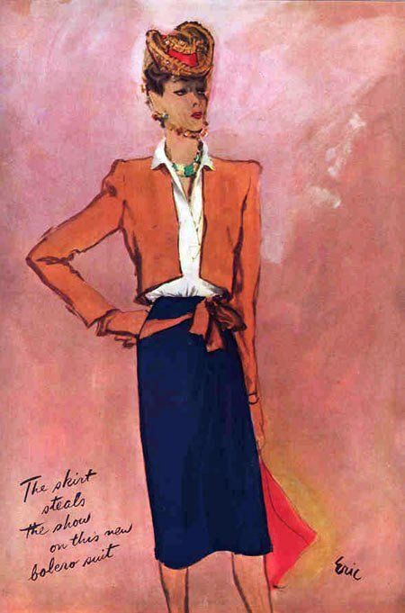 Vogue, 1943. Illustration: Eric.