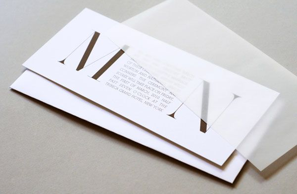 How Big Are Wedding Invitations: Simple Yet Sophisticated. Could Have Big Letters In Colour