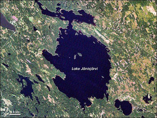 Lake Janisjarvi Russia Impact Crater Site Impact Crater