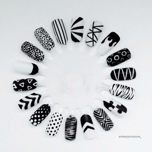 Monochrome Nail Art