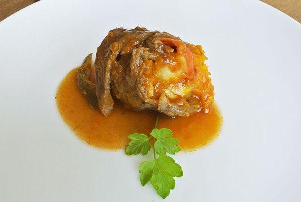 Rollitos de ternera rellenos de calabaza | Cocinar en casa es facilisimo.com
