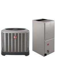 2 5 Ton Rheem 15 5 Seer R410a Heat Pump Split System Air Conditioner Cost Central Air Conditioners Heat Pump