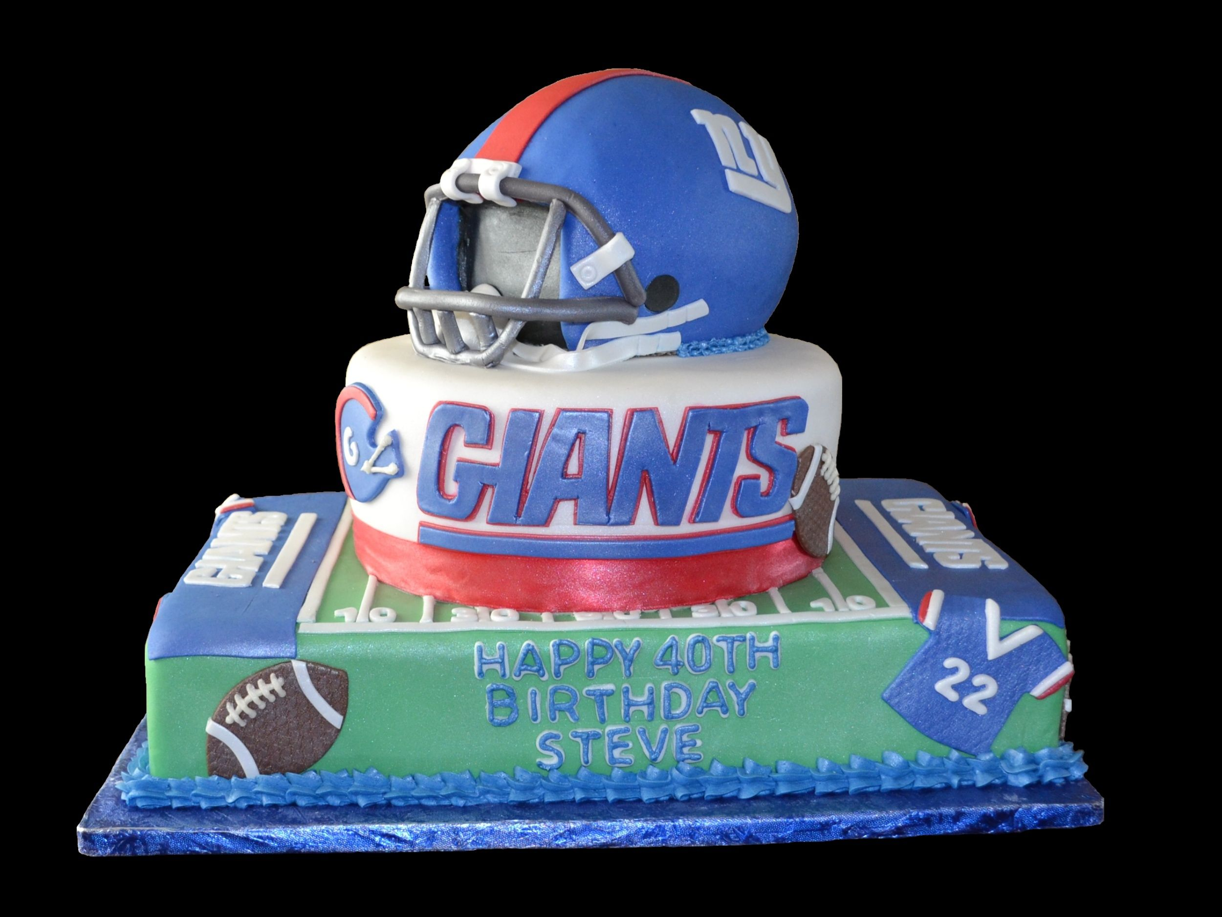Awesome Ny Giants 40Th Birthday Cake With Images 40Th Birthday Cakes Funny Birthday Cards Online Inifodamsfinfo