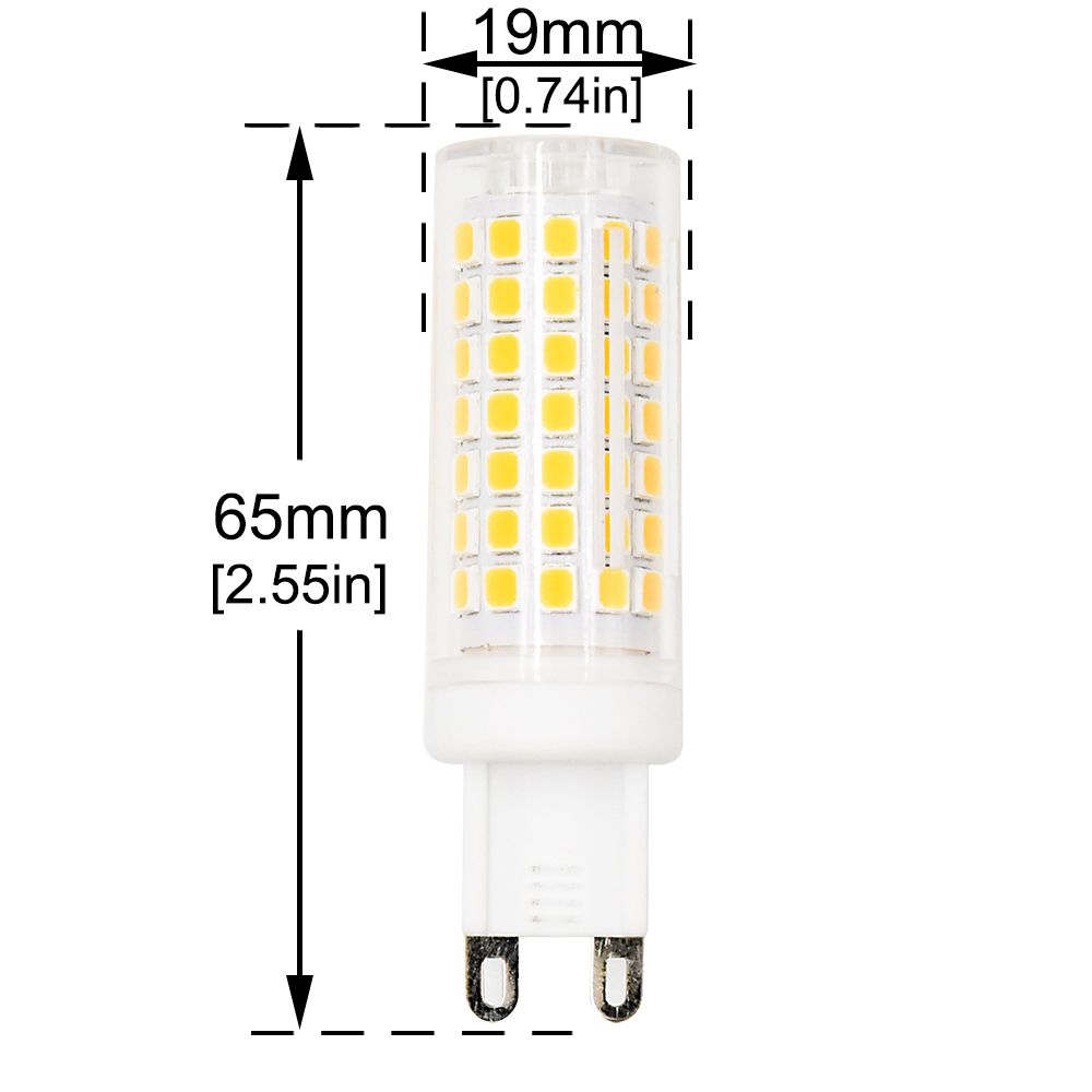 Stariver G9 Bi Pin Led Lamp Bulb 5w Warm White 3000k 50w Halogen Bulb Equivalent For Oven Fan Microwave G9 Led Bulb Chandelier Ceiling Lights Lamp