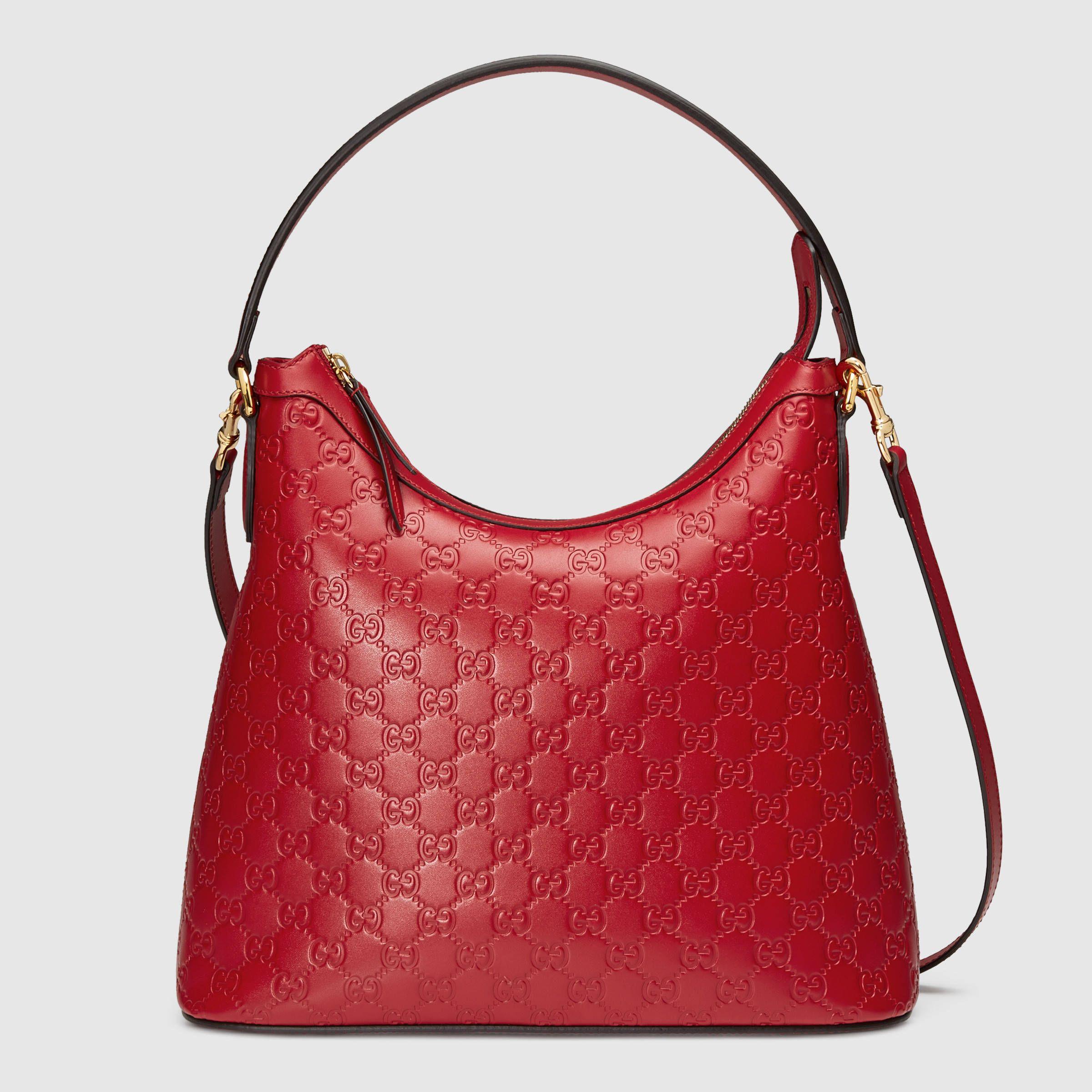 Gucci Women - Gucci Signature hobo - 414930CWC1G6433 | Handbags ...