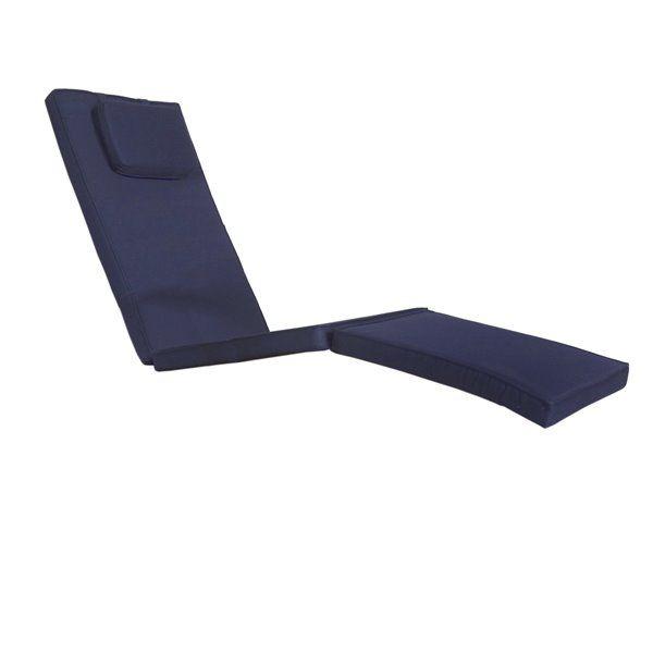 All Things Cedar Navy Blue Lounge Chair Cushion Rona Blue
