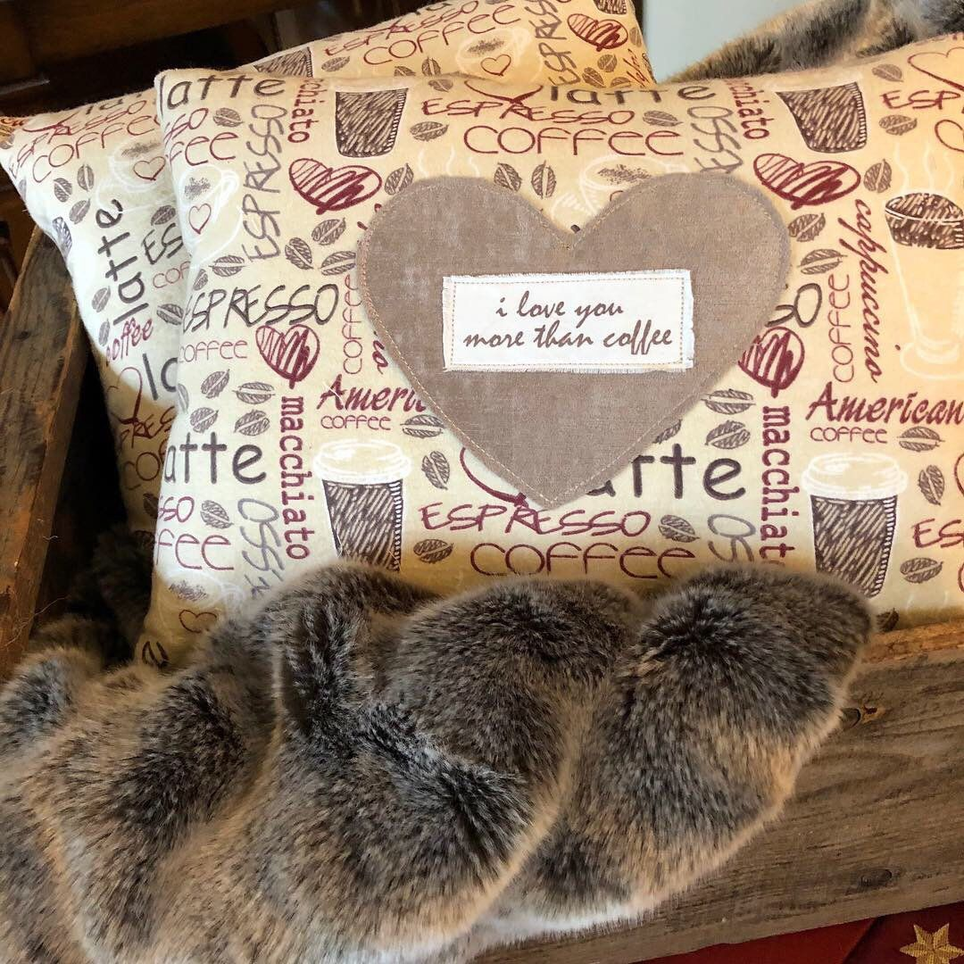 Valentine's Day Pillow/Gift For Him/Handmade Coffee Lover