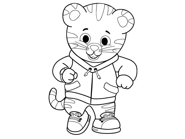 daniel tiger neighborhood coloring pages coloring Pages