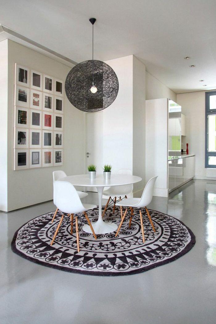 Decouvrir Le Sol En Beton Cire Dans Beaucoup De Photos Home Decor Dining Room Design Round Area Rugs